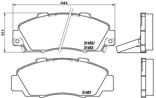 Details about Genuine BREMBO brake pads for HONDA CRV RD, HRV GH FRONT