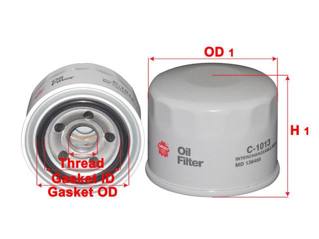 OIL FILTER MD136466 / B7243