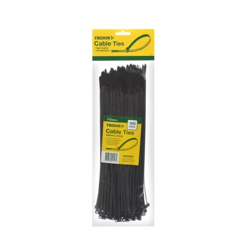 CABLE TIE BLACK 300 X 5MM (PK25)
