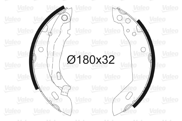 VAICO Handbrake Shoes V42-4129 fits Peugeot 306 7A 7C N3