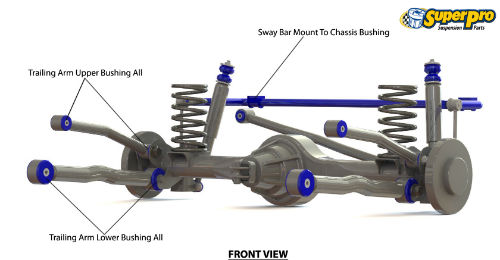 Rear suspension diagram for TOYOTA LAND CRUISER PRADO 2002-2010 - 120 Series
