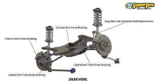 Rear suspension diagram for TOYOTA COROLLA 1998-2001 - E110, E111, E112