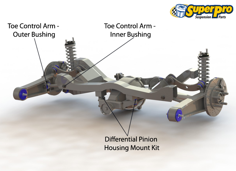 Rear suspension diagram for MITSUBISHI ASX 06/2010-on - XA, GA_W_