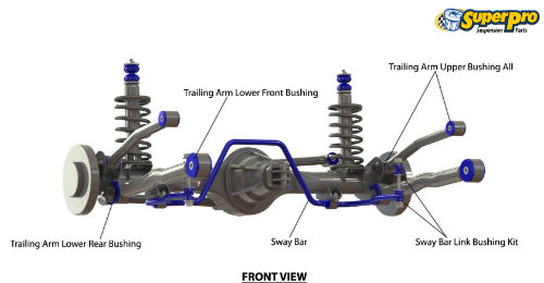 rear suspension diagram for ford australia falcon 1998-2002 - au series i,  ii