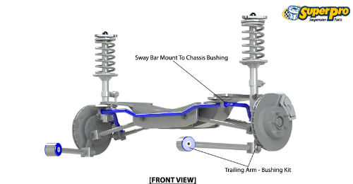 Rear suspension diagram for SUZUKI SWIFT 2010-on - MK 4