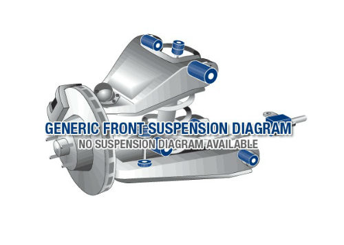 Front suspension diagram for ISUZU RODEO 2007-2012 - 8DH