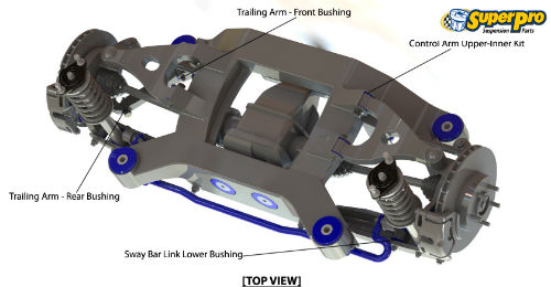 Rear suspension diagram for SCION FR-S 2012-on - ZN6